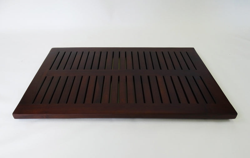 "DecoTeak 23"" X 15"" Teak  Shower Bath Floor Mat"