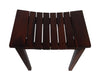 "DecoTeak Sojourn 20"" Contemporary Teak Eastern Style Shower Bench"