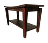 "DecoTeak Sojourn 35"" Contemporary Teak Eastern Style Shower Bench With Shelf"