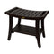 "DecoTeak Harmony 24"" Teak Shower Bench With Shelf And LiftAide Arms"