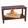 "DecoTeak Espalier 30"" Lattice Teak Shower Bench With Shelf"