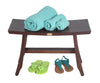 "DecoTeak Satori 24"" Eastern Style Teak Shower Bench"