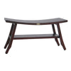 "DecoTeak Satori 34"" Extended LENGTH Eastern Style Teak Shower Bench With shelf"