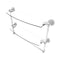 Allied Brass Dottingham Collection 18 Inch Two Tiered Glass Shelf with Integrated Towel Bar DT-34TB-18-WHM