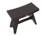 "DecoTeak Serenity 24"" Eastern Style Teak Shower Bench"