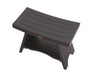 "DecoTeak Serenity 24"" Eastern Style Teak Shower Bench With Shelf"