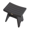 "DecoTeak Serenity 18"" Eastern Style Teak Shower Bench Stool"