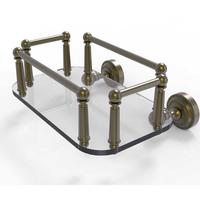 Allied Brass Dottingham Collection Wall Mounted Glass Guest Towel Tray DT-GT-5-ABR