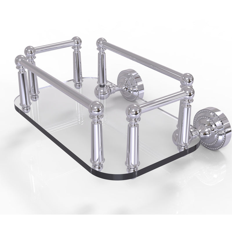 Allied Brass Dottingham Collection Wall Mounted Glass Guest Towel Tray DT-GT-5-PC