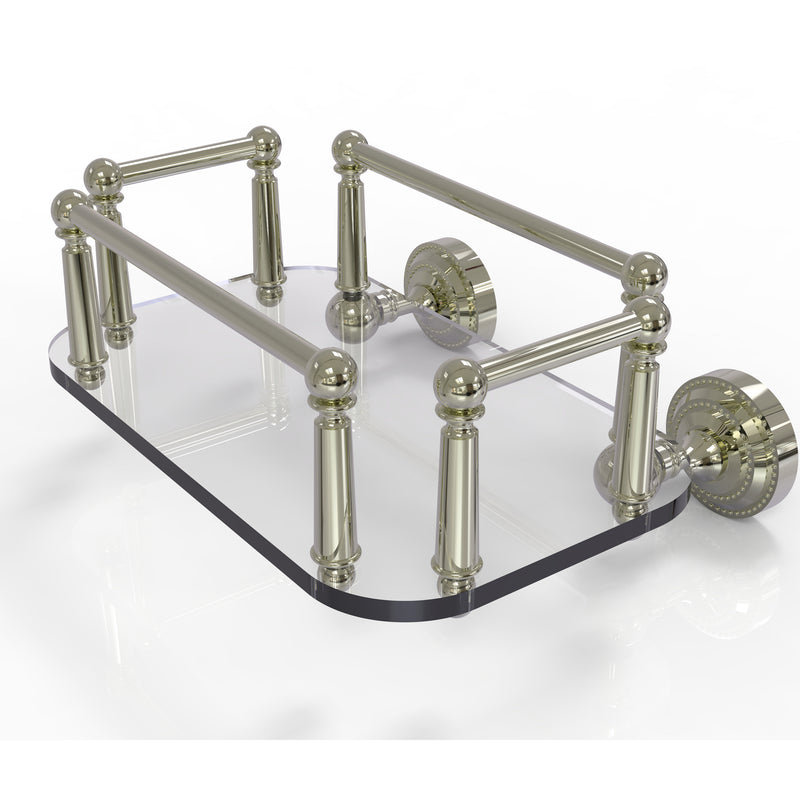 Allied Brass Dottingham Collection Wall Mounted Glass Guest Towel Tray DT-GT-5-PNI