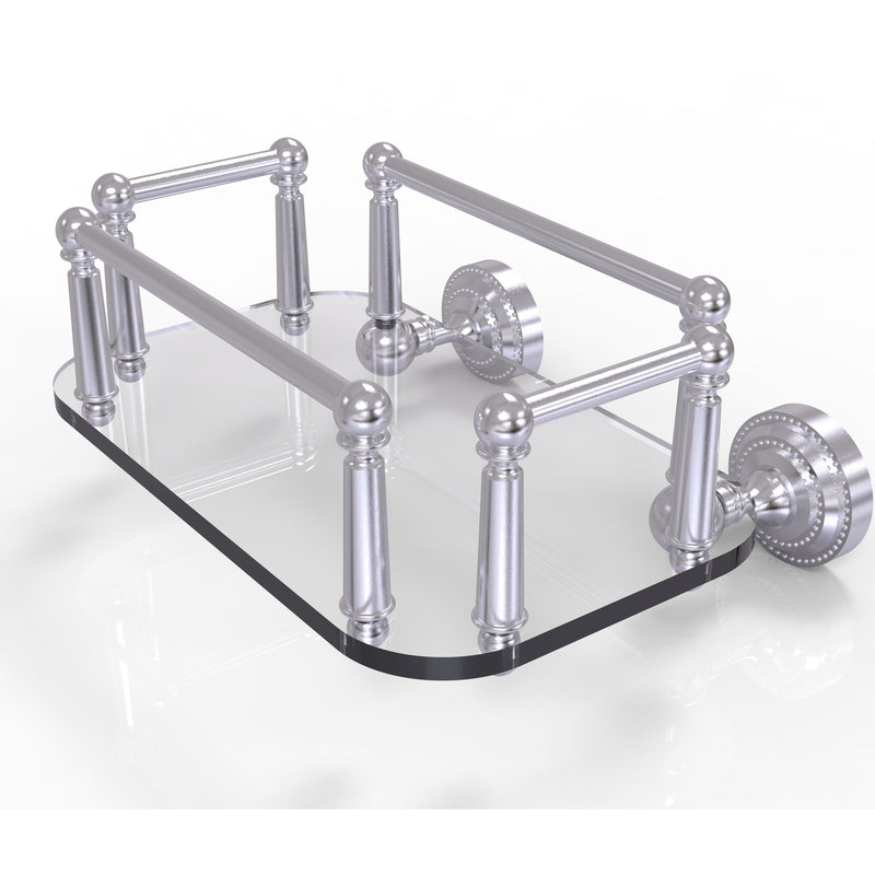 Allied Brass Dottingham Collection Wall Mounted Glass Guest Towel Tray DT-GT-5-SCH