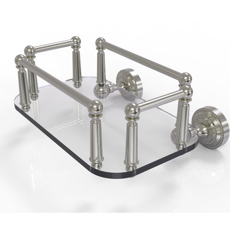 Allied Brass Dottingham Collection Wall Mounted Glass Guest Towel Tray DT-GT-5-SN