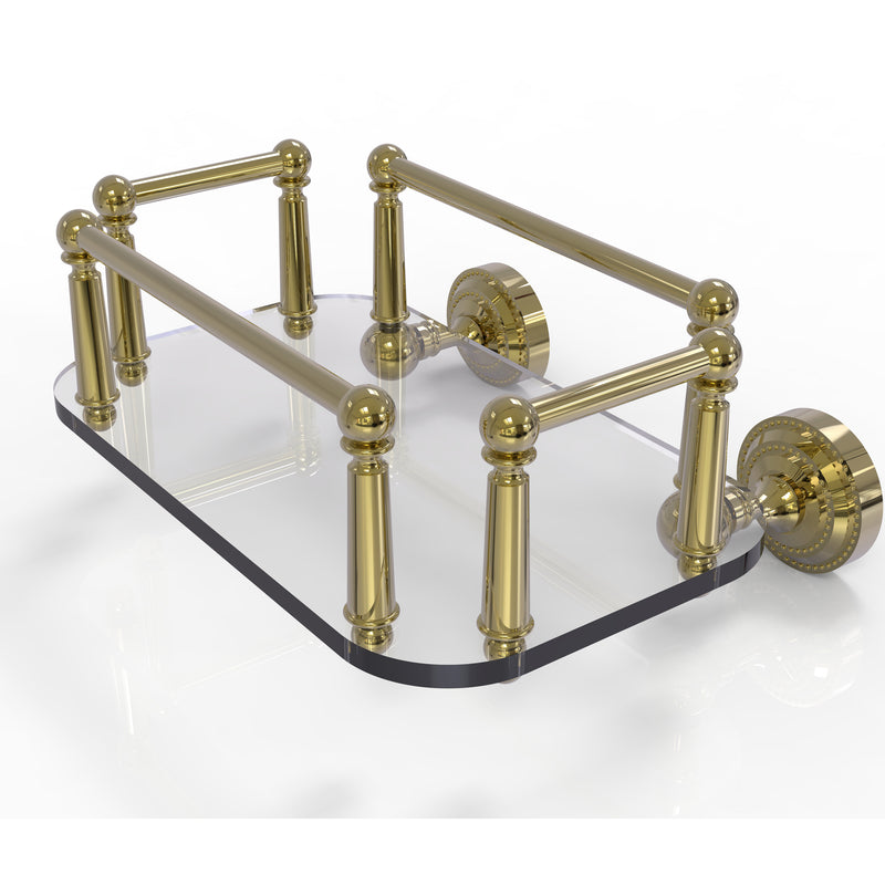 Allied Brass Dottingham Collection Wall Mounted Glass Guest Towel Tray DT-GT-5-UNL