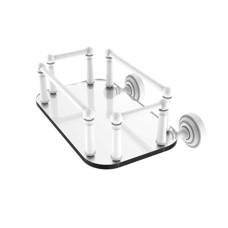 Allied Brass Dottingham Collection Wall Mounted Glass Guest Towel Tray DT-GT-5-WHM