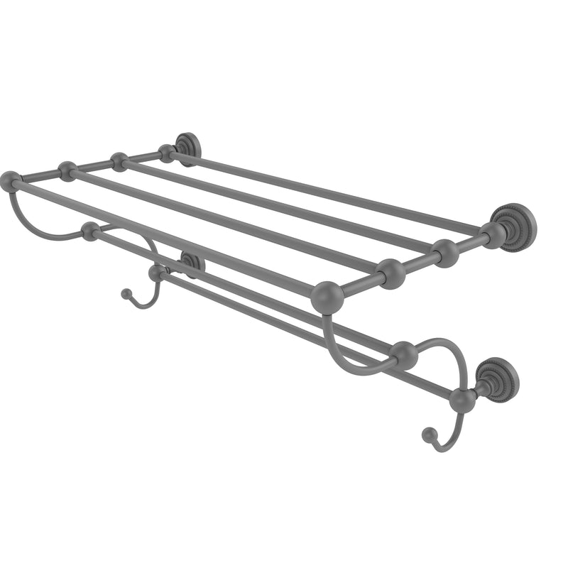 Allied Brass Dottingham Collection 24 Inch Train Rack Towel Shelf DT-HTL-24-5-GYM