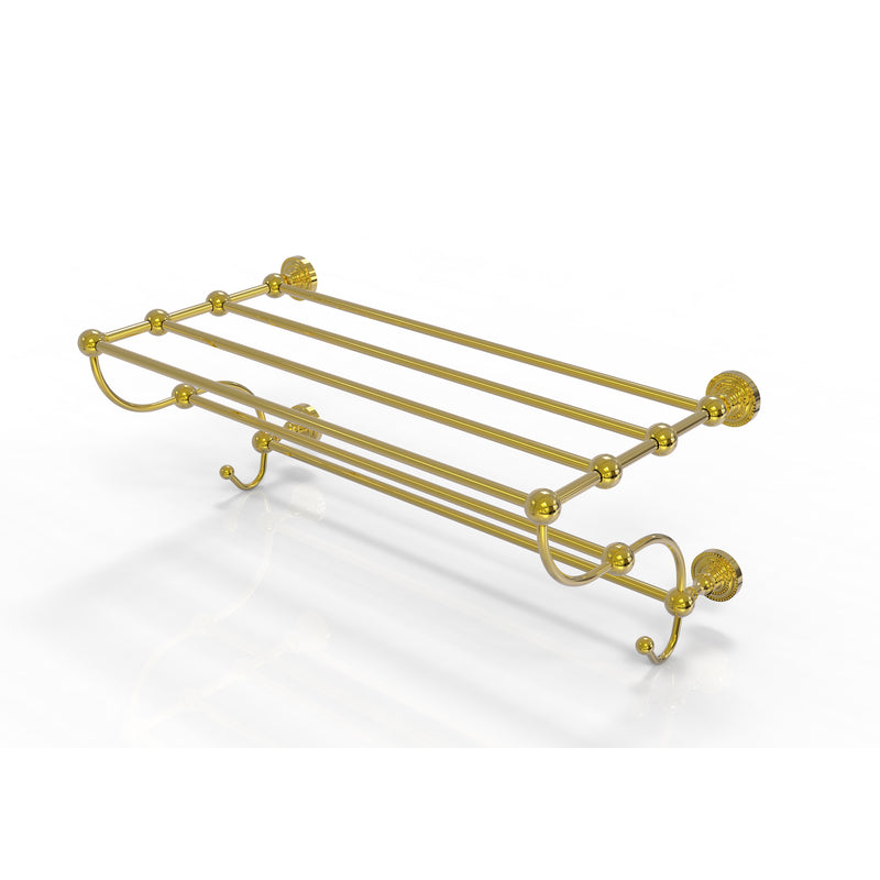 Allied Brass Dottingham Collection 24 Inch Train Rack Towel Shelf DT-HTL-24-5-PB