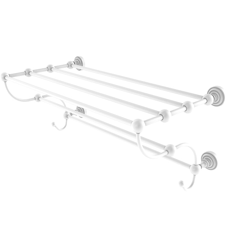 Allied Brass Dottingham Collection 24 Inch Train Rack Towel Shelf DT-HTL-24-5-WHM