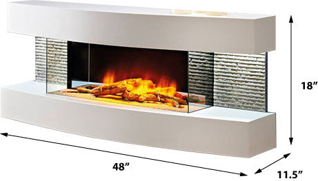 Evolution Fires Miami Curve 48 inch Fireplace Graphite