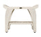 "EcoDecor Coastal Vogue White Wash Satori 18"" Eastern Style Teak Shower Bench With Shelf"