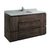 "Fresca Formosa 60"" Floor Standing Single Sink Modern Bathroom Cabinet"