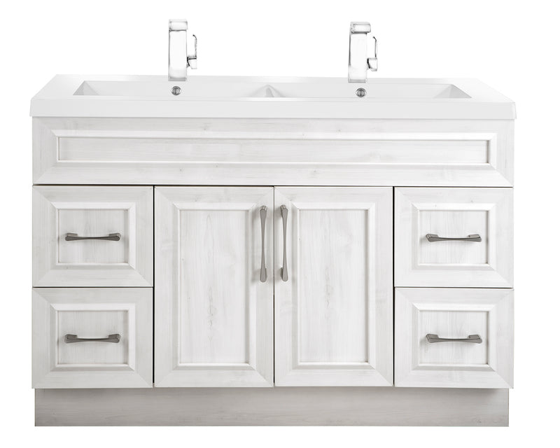 "Cutler Classic Collection 48"" Bathroom Vanity - With Double Bowl Top, Fogo Harbor"