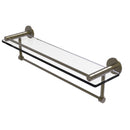 Allied Brass Fresno Collection 22 Inch Glass Shelf with Vanity Rail and Integrated Towel Bar FR-1-22GTB-ABR