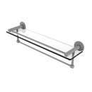 Allied Brass Fresno Collection 22 Inch Glass Shelf with Vanity Rail and Integrated Towel Bar FR-1-22GTB-GYM