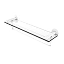 Allied Brass Fresno Collection 22 Inch Glass Shelf with Vanity Rail and Integrated Towel Bar FR-1-22GTB-WHM