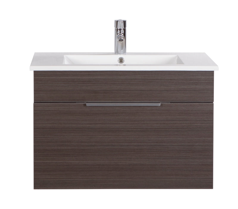 "Cutler Textures Collection 30"" Wall Mount Bathroom Vanity - 1 Drawer With Top, Spring Blossom"