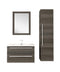 "Cutler Silhouette Collection 30"" Wall Mount Bathroom Vanity - 2 Drawers With Top, Zambukka"