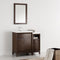 "Fresca Cambridge 36"" Antique Coffee Traditional Bathroom Vanity with Mirror FVN21-2412AC"