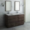 "Fresca Formosa 60"" Floor Standing Double Sink Modern Bathroom Vanity with Mirrors"