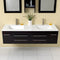 "Fresca Bellezza 59"" Espresso Modern Double Sink Bathroom Vanity FVN6119UNS"