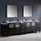"Fresca Torino 108"" Espresso Modern Double Sink Bathroom Vanity with 3 Side Cabinets & Integrated Sinks FVN62-108ES-UNS"