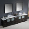 "Fresca Torino 108"" Espresso Modern Double Sink Bathroom Vanity with 3 Side Cabinets & Vessel Sinks FVN62-108ES-VSL"