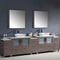 "Fresca Torino 108"" Gray Oak Modern Double Sink Bathroom Vanity with 3 Side Cabinets & Vessel Sinks FVN62-108GO-VSL"