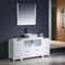 "Fresca Torino 60"" White Modern Bathroom Vanity with 2 Side Cabinets & Vessel Sink FVN62-123612WH-VSL"