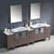 "Fresca Torino 96"" Gray Oak Modern Double Sink Bathroom Vanity with 3 Side Cabinets & Integrated Sinks FVN62-96GO-UNS"