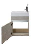 "Cutler Piccolo Collection 18"" Space Saver Wall Mount Bathroom Vanity - Weekend Getaway"