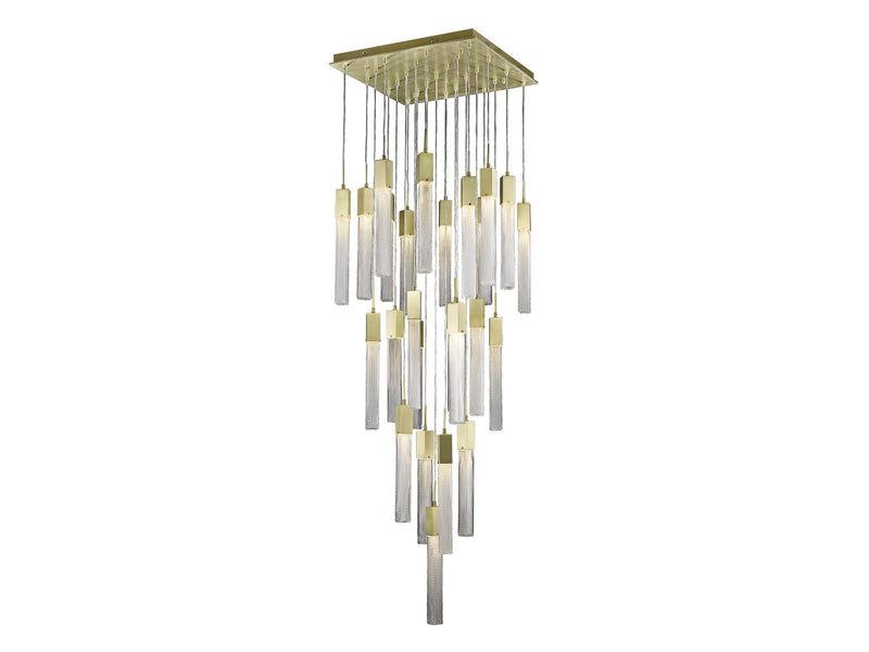 Avenue Lighting Boa Collection Pendant Brushed Brass HF1904-25-BOA-BB