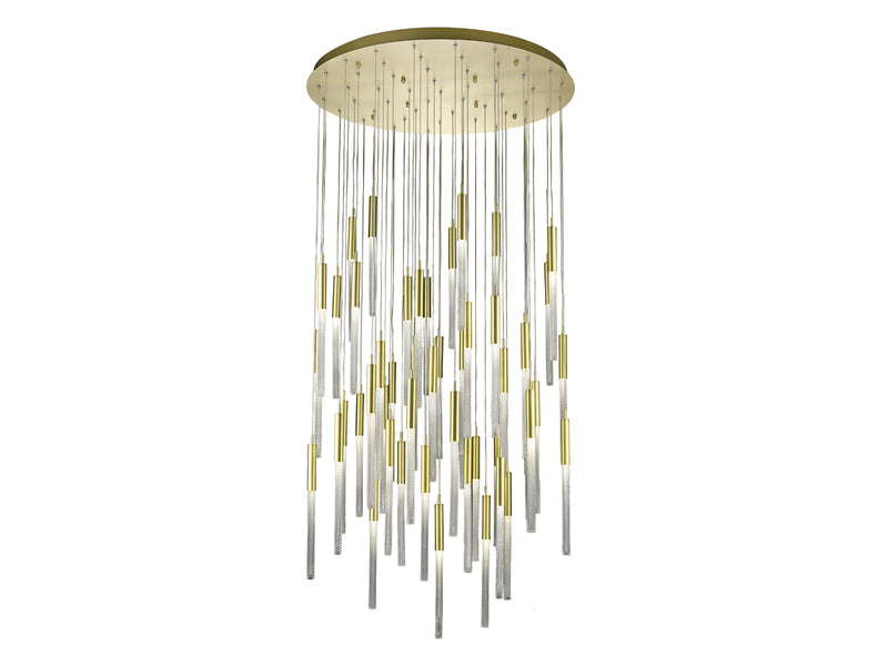 Avenue Lighting Boa Collection Pendant Brushed Brass HF2051-BOA-BB