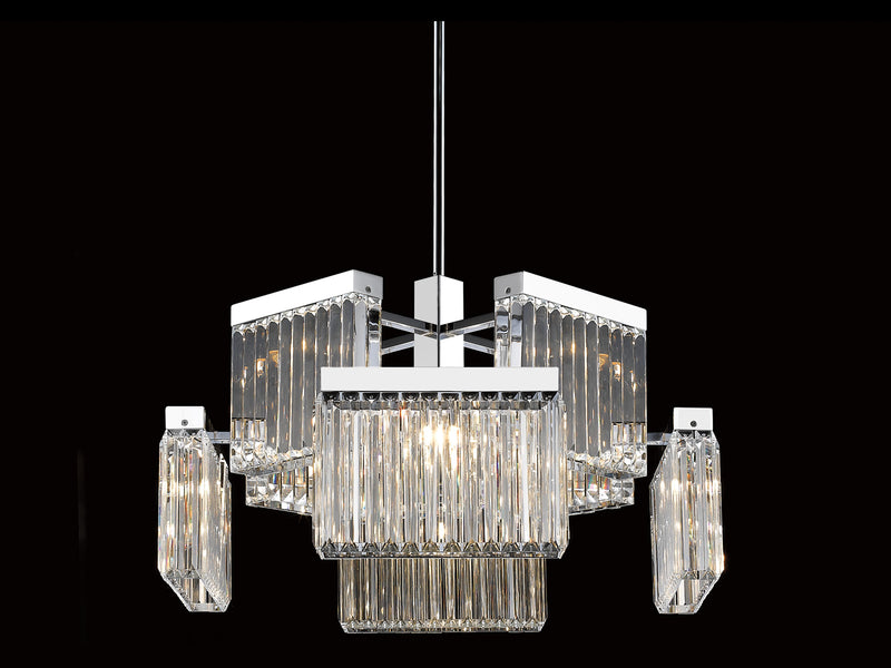 Avenue Lighting Broadway Collection  Hanging Chandelier Polished Nickel HF4008-PN