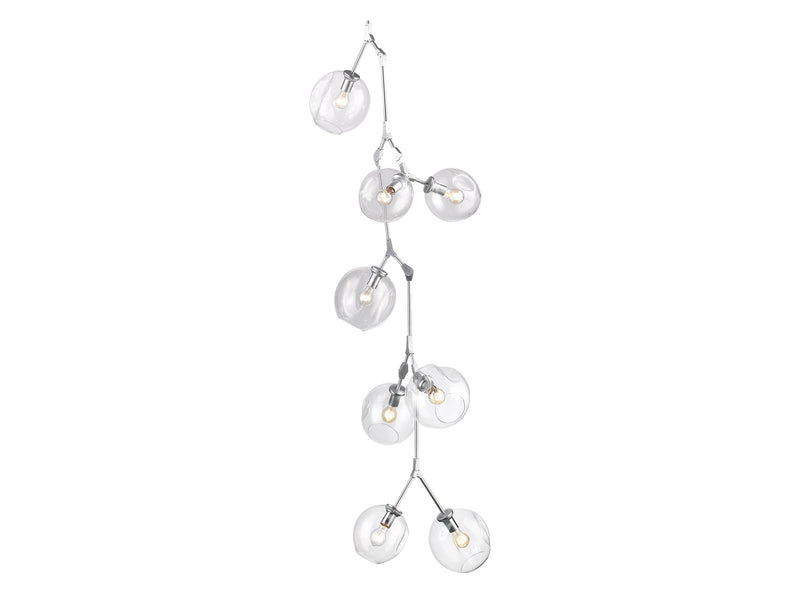 Avenue Lighting Fairfax Collection Hanging Chandelier Matte Chrome HF8080-CH