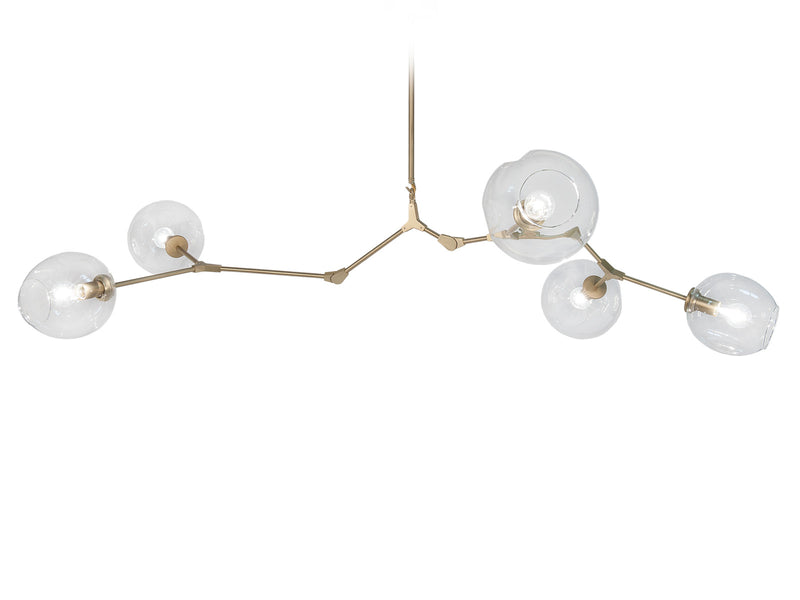 Avenue Lighting Fairfax Collection  Hanging Chandelier Brushed Brass HF8085-BB