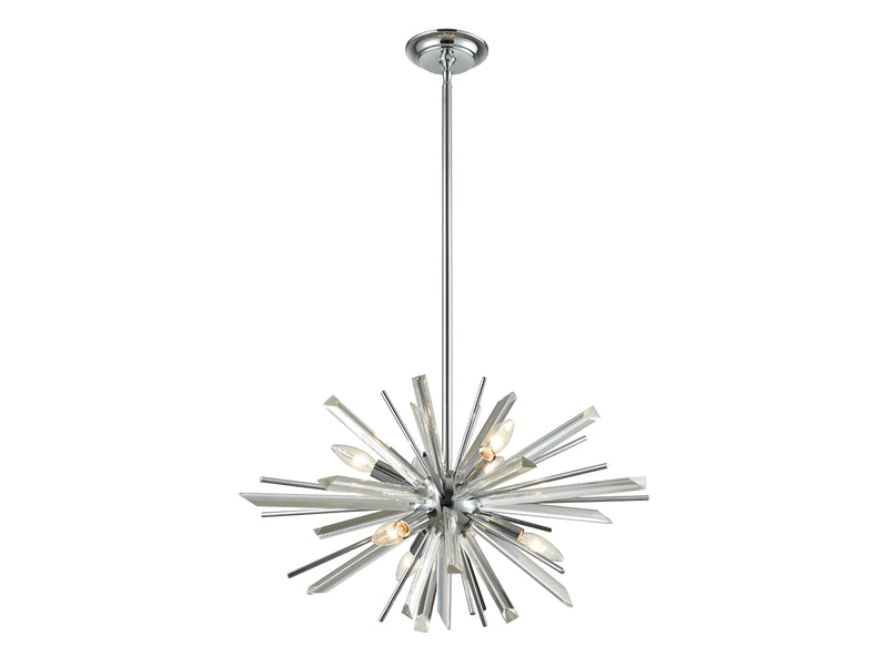 Avenue Lighting Palisades Ave. Collection Hanging Chandelier Chrome With Clear Glass HF8201-CH