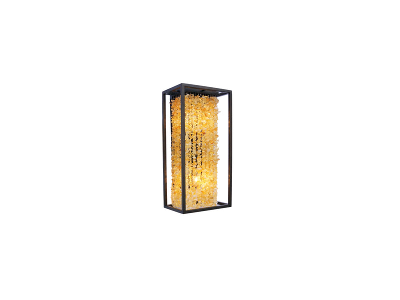 Avenue Lighting Soho Collection Pendant Dark Bronze  Finish With Natural Citrine Nuggets  HF9002-DBZ