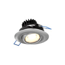 "Dals Lighting 3"" LED Round Gimbal Recessed Light 8W 3000k 90 CRI Sn LEDDOWNG3-SN"