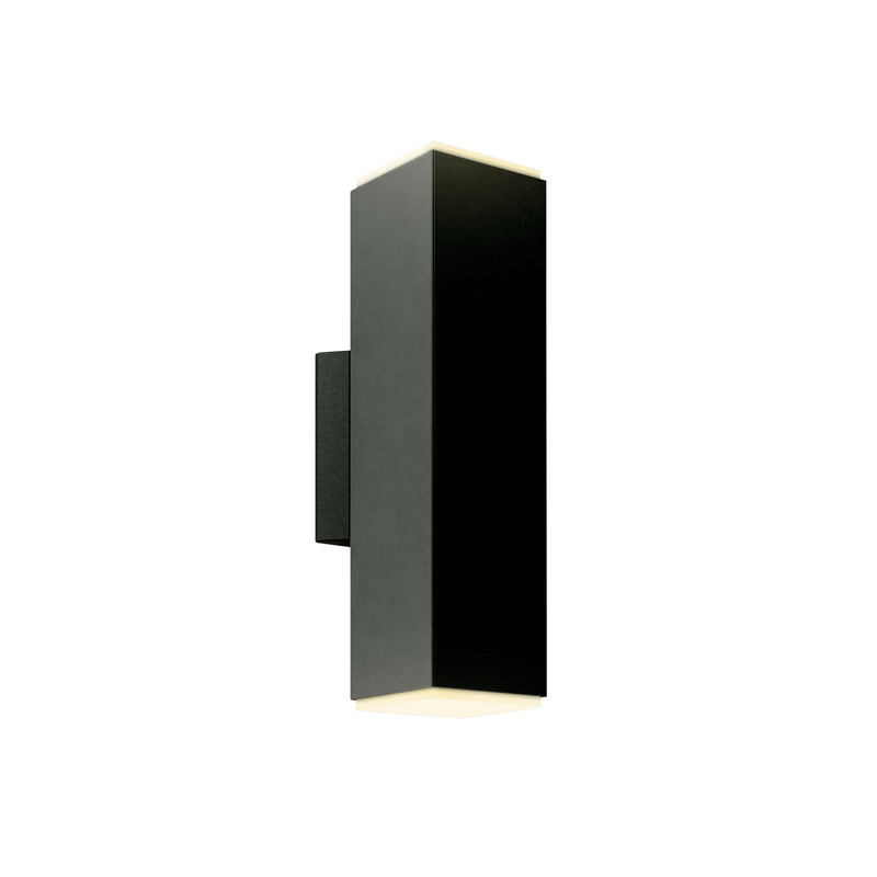 "Dals Lighting 4"" LED Square Cylinder 28W 3000K 1967 LM Black LEDWALL-B-BK"