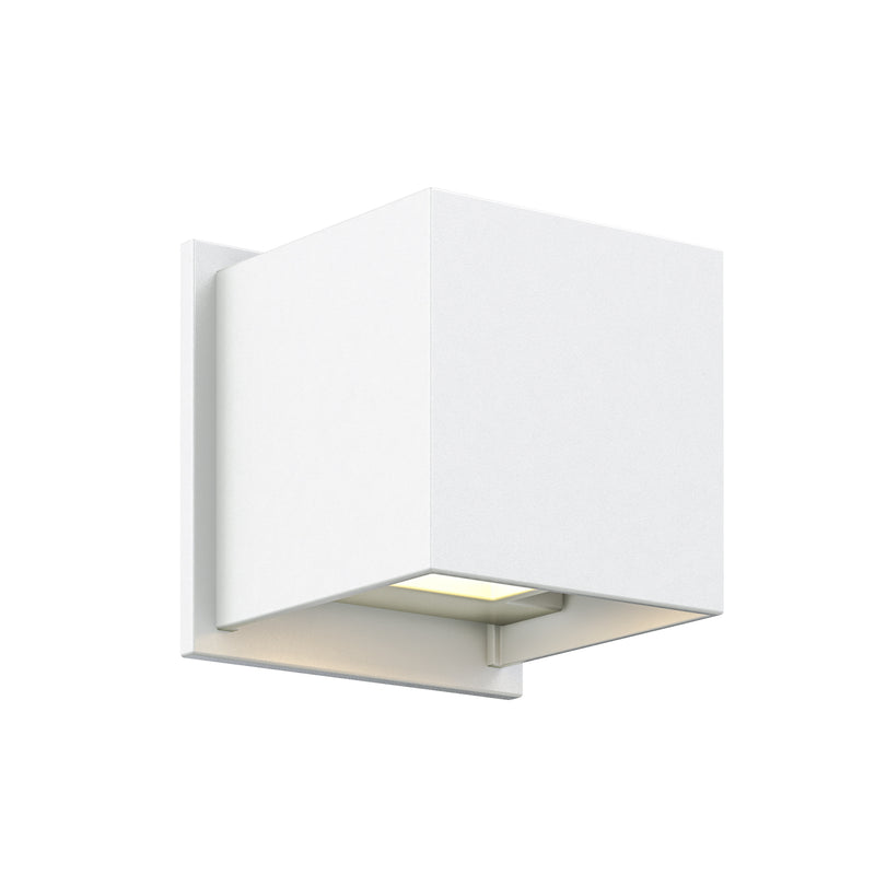 Dals Lighting LED Square Wall Sconce 7W 3000k 2 x 300 LM Wht LEDWALL001D-WH