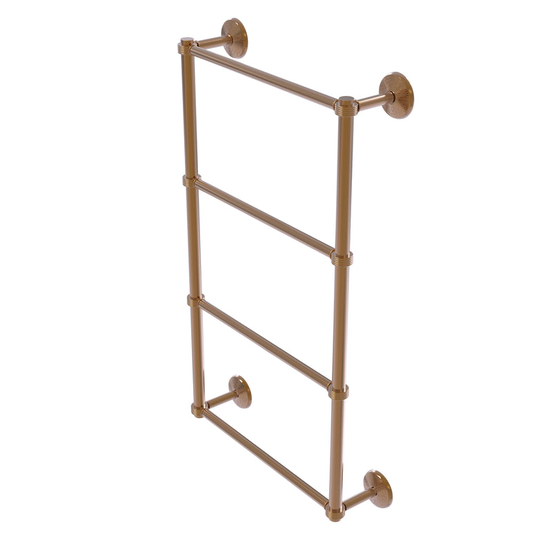 Allied Brass Monte Carlo Collection 4 Tier 24 Inch Ladder Towel Bar with Groovy Detail MC-28G-24-BBR